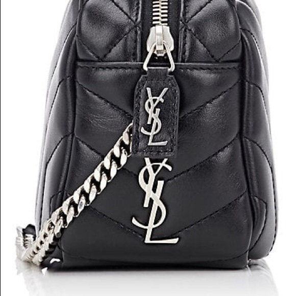 "887be57d827e YSL SAINT LAURENT SMALL ""LOULOU"" BOWLING BAG BLACK.  M 5bf4616df63eea6ffeec4fee"